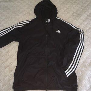 Men's adidas windbreaker black zip up jacket